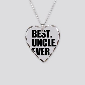 Best Uncle Ever Necklace Heart Charm