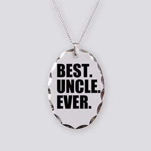 Best Uncle Ever Necklace Oval Charm