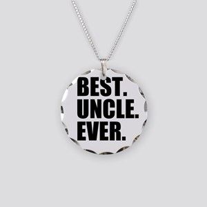 Best Uncle Ever Necklace Circle Charm
