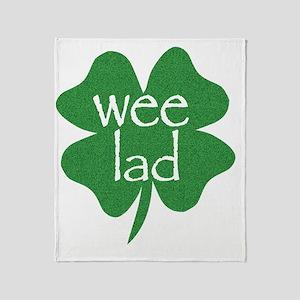 wee lad irish Throw Blanket