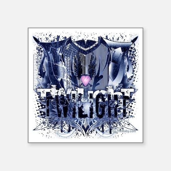 "Twilight Mysterious Blue Cr Square Sticker 3"" x 3"""
