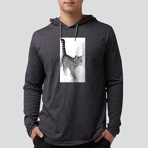 Tabby Cat Mens Hooded Shirt