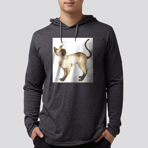 Siamese cat Mens Hooded Shirt