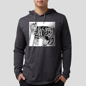 manx cat Mens Hooded Shirt