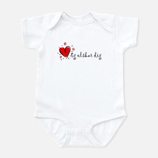 """I Love You"" [Danish] Infant Bodysuit"