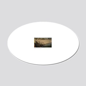 16X20-SANTA-MONICA-PIER 20x12 Oval Wall Decal