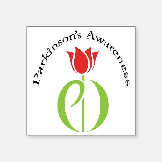 "pdtulip awareness Square Sticker 3"" x 3"""