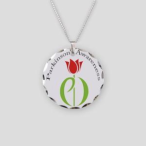 pdtulip awareness Necklace Circle Charm