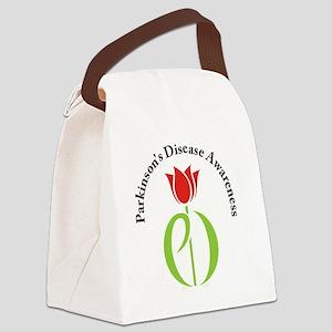 parkinsons awareness pd tulip Canvas Lunch Bag