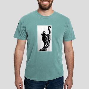 black cat Mens Comfort Colors Shirt
