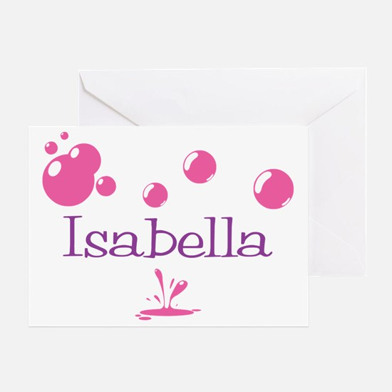 Isabella Bubbles Greeting Card
