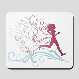 flourish_runner Mousepad