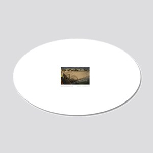 11X17-REV1-SANTA-MONICA-PIER 20x12 Oval Wall Decal