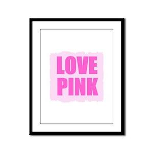 LOVE PINK Framed Panel Print