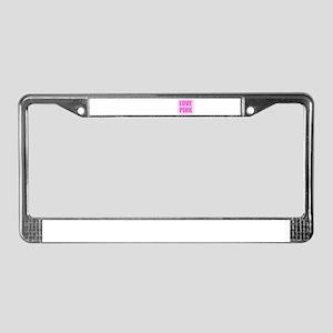 LOVE PINK License Plate Frame