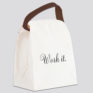 Work it Fitness Inspiration Canvas Lunch Bag