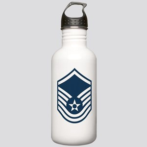 USAF-MSgt-Blue Stainless Water Bottle 1.0L