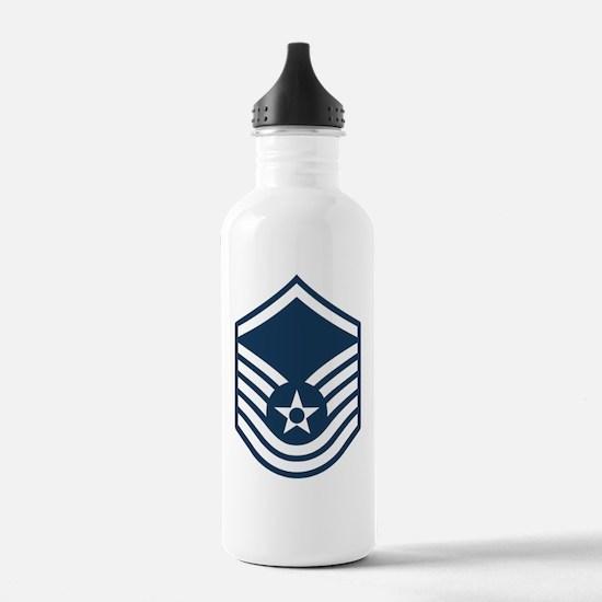 USAF-MSgt-Blue Water Bottle