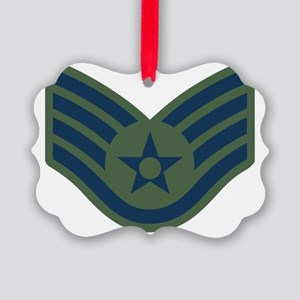 USAF-SSgt-Woodland Picture Ornament