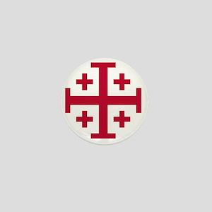 Cross Potent - Jerusalem - Red Mini Button