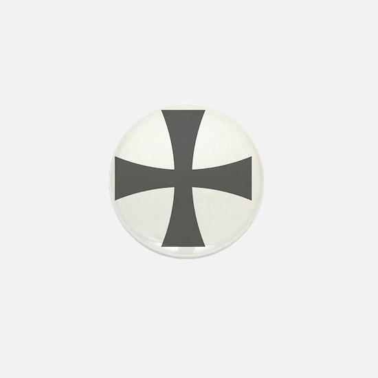 Cross Formee - Grey Mini Button