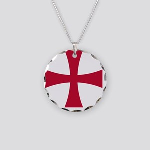 Cross Formee - Red Necklace Circle Charm