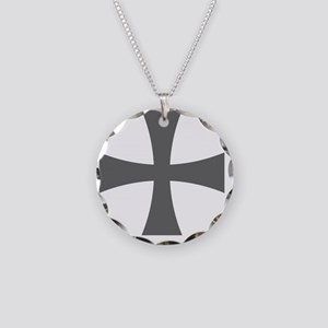 Cross Formee - Grey Necklace Circle Charm