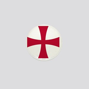 Cross Formee - Red Mini Button