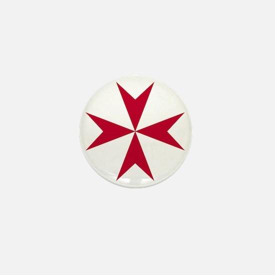 Cross of Malta - Red Mini Button