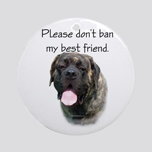 Mastiff BSL 3 Ornament (Round)