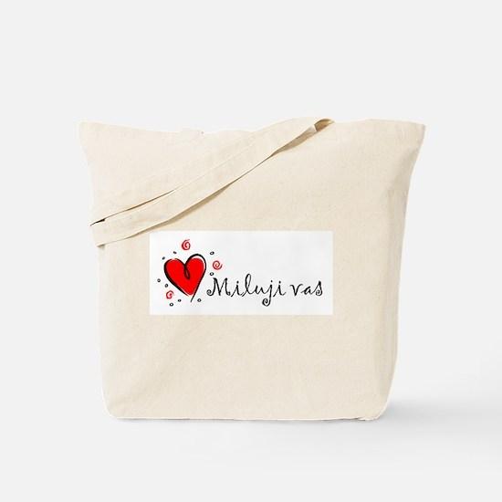 """I Love You"" [Czech] Tote Bag"