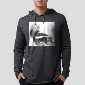 skunk drawing Mens Hooded Shirt