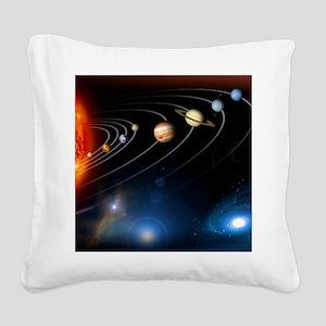 solarsystem2 Square Canvas Pillow