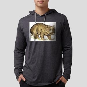 wombat drawing Mens Hooded Shirt