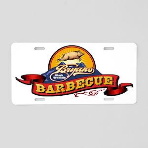 Bryans Barbecue for dark sh Aluminum License Plate