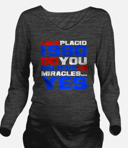 miracle on ice-d Long Sleeve Maternity T-Shirt