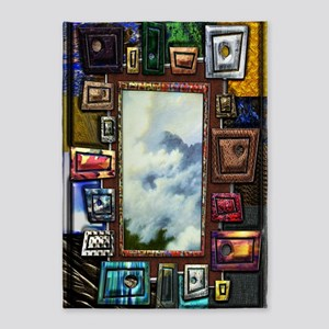 Shape and texture Large Poster Prin 5'x7'Area Rug