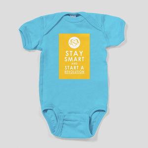 LOVE REVOLUTION Saffron Yellow Baby Bodysuit