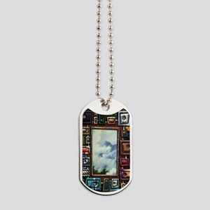 Shape and texture Large Framed Print 14 x Dog Tags