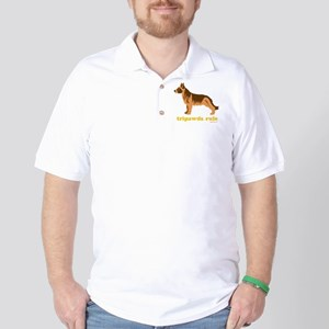 Tripawds Rule Three Legged GSD Dark BKG Golf Shirt