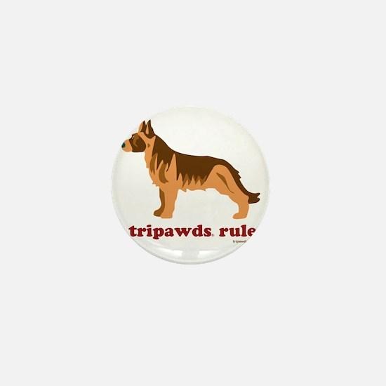 Tripawds Rule Three Legged GSD White B Mini Button