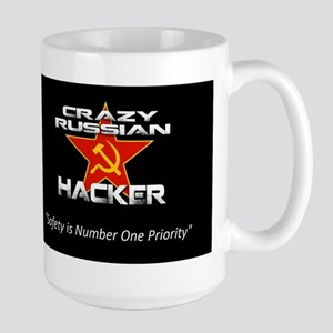 Crazy Russian Hacker Logo Mugs