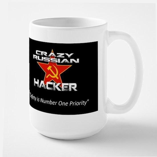 Crazy Russian Hacker Logo Mugs