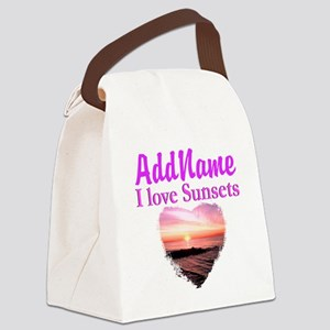 LOVE SUNSETS Canvas Lunch Bag