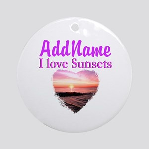 LOVE SUNSETS Ornament (Round)