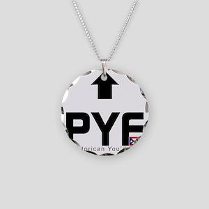PYF_black Necklace Circle Charm