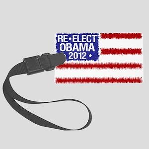 re-elect obama 2012 flag Large Luggage Tag