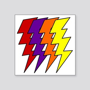 "2-lightening Square Sticker 3"" x 3"""