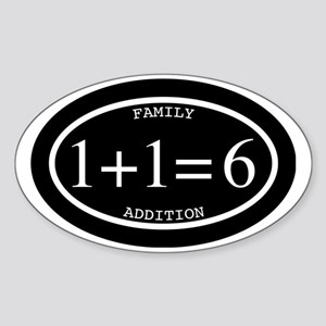 Family Addition Oval Inverted 6 Sticker (Oval)