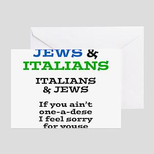 Funny jewish greeting cards cafepress jews and italians greeting cards m4hsunfo